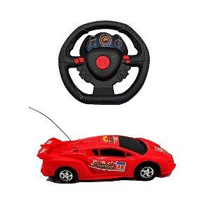 Carro Carrinho Controle Remoto Volante Sem Fio 3 Funcoes