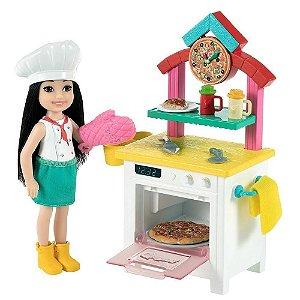 Boneca Barbie Chelsea Chef Pizzaiola Com 9 Acessorios Mattel