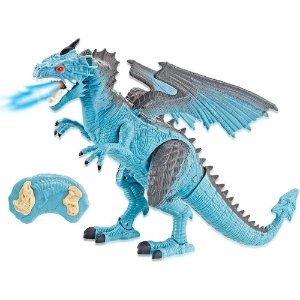 Dinossauro Lendarios Com Som e Luz Via Remoto Azul Candide