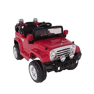 Carro Eletrico Controle Remoto Belfix Jipe Trilha Vermelho