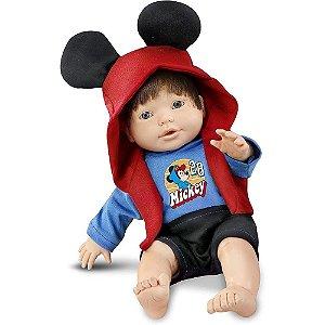 Boneco Mickey Mouse Bebe Mania Roma Brinquedos