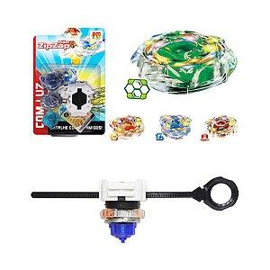 Beyblade Piao De Batalha Com Lancador Zipzap Com Luz Dm Toys