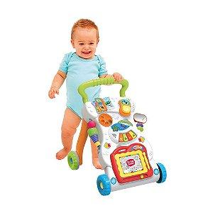Andador Divertido Multi Atividades Baby Colorido Com Som