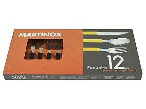 Faqueiro 12 Pecas Martinox Preto