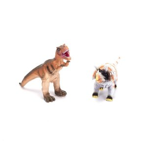 Duelo de Dinossauros Com Som - Laranja e Branco - Unik Toys