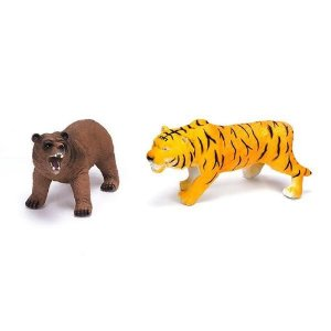 Duelo Selvagem Com Som - Urso Tigre - Unik Toys