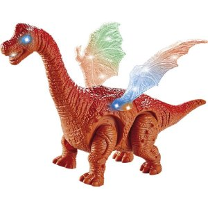 Dinossauro Infantil Com Asas Com Luz E Som Dino 25cm