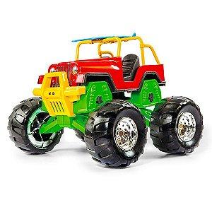 Carrinho Super Jipe Rally Monster Infantil Poliplac