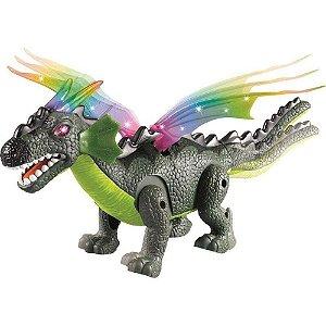 Boneco Dragossauro Com Luz Som Dm Toys Dmt5569