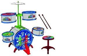 Instrumento Musical - Bateria Gde 10 Pc - Pjmasks - Candide