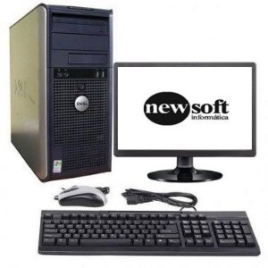 """Dell Dual Core com 4GB de Memória DDR2 e HD 320GB + Monitor 15"""", teclado e mouse"""