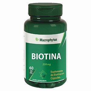 BIOTINA 250MG 60CPS (VITAMINA H) MACROPHYTUS