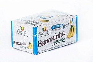 Bananinha Cremosa Faduni sem adição de açúcar - 24 unidades de 30g - Doce de banana