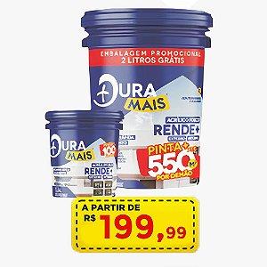 Latex Duramais 20 litros - até 500m - por apenas R$ 199,00