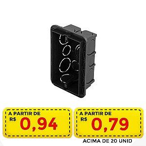 Caixa de embutir preta 4x2 - Por apenas R$ 0,94 ou 0,79 acima de 20 unid.