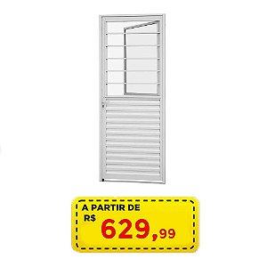 PORTA SALA BRANCA 80 CM - LINHA ALUMINIO - POR APENAS R$ 629,99