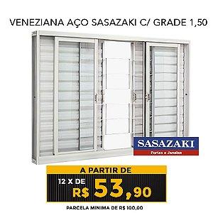 VENEZIANA AÇO SASAZAKI C/ GRADE 1,50