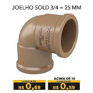 JOELHO SOLD 3/4 = 25 MM