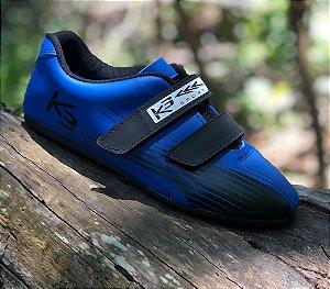 Sapatilha Para Iniciantes Sem Clip K3 Azul com Preto