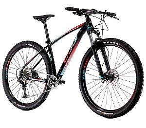 Bicicleta Aro 29 Big Wheel 7.2 OGGI Shimano Deore 11 velocidades 2021 Preto/Azul/Vermelho
