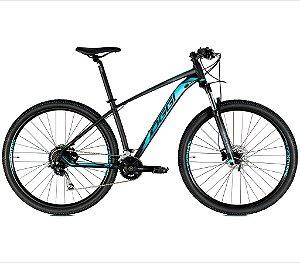 Bicicleta Aro 29 Big Wheel 7.1 OGGI Shimano Deore/Alivio 18 velocidades 2021 Preto/Azul/Grafite