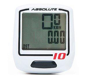Ciclocomputador IRIX 10 Absolute Branco COM FIO