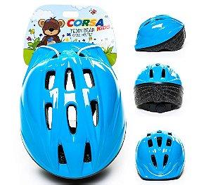 Capacete Infantil Kidzamo Azul Tamanho M (52 a 56 cm)