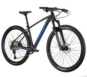 PRÉ-VENDA - OGGI Big Wheel 7.4 2021 Shimano SLX 12 Velocidades Freios Hidráulicos Shimano SLX Azul/Grafite