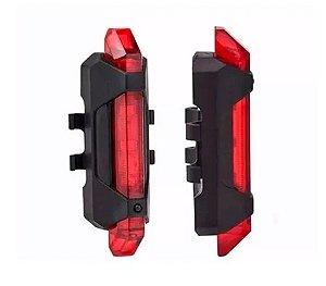 Pisca Alerta Traseiro Recarregável USB Sinalizador JY-918