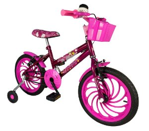 Bicicleta Infantil Aro 16 Mayva Dayte Baby com Cestinha