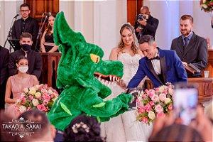 Dunk invade a igreja e entrega as alianças no altar | Casamento do Josa e Letícia