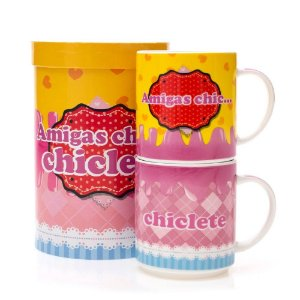 CANECAS DOUBLE AMIGAS CHICLETE 280ML