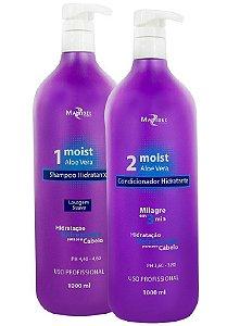 Kit Milagre Shampoo Condicionador Moist Aloe Vera Mairibel