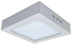 Luminaria Led Plafon Sobrepor Quadrado 18W - 3000K / 6000K