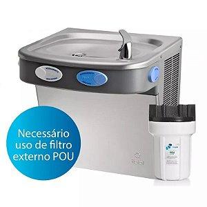 Bebedouro IBBL de parede, água gelada, natural e fresca, INOX - BDF100 - 1 torneira