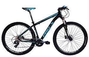 Bicicleta 29 Prowest 24 Vel Shimano Freio Hidraulico Susp Trava Preto