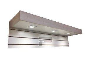 Testeira para painel canaletado - com iluminação