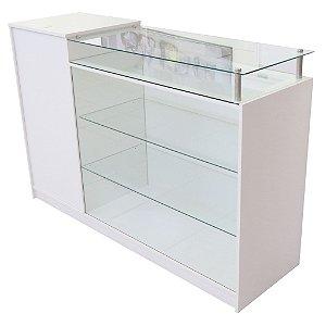 Balcão caixa com vitrine
