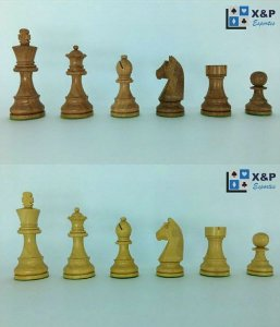 Jogo de Xadrez - German Stauton 3,75 polegadas - madeira