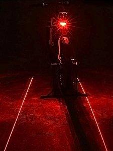 Luz Led Laser traseira para bicicleta