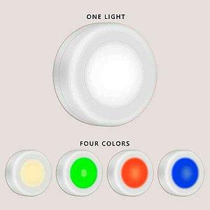 Luz Lâmpada Led De Toque 4 Cores