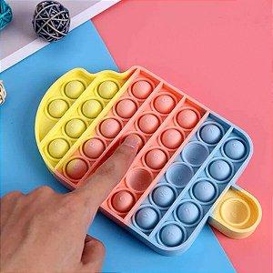 Pop It Fidget Brinquedo Bolha Sensorial Anti Stress Picolé