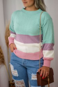 Blusa Tricot Candy Verde
