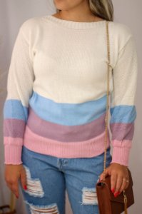 Blusa Tricot Candy Off