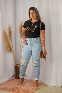 Calça Moon Jeans Com Botões Encapados