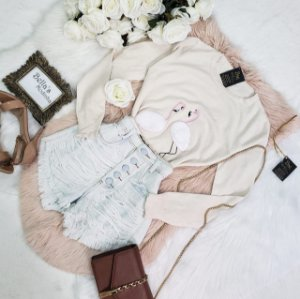 Blusa Tricozinho Flamingo Bege