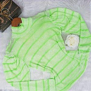 Blusa Tricô Neon Verde
