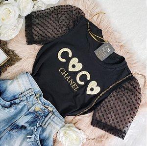 T-shirt Coco Chá Preta
