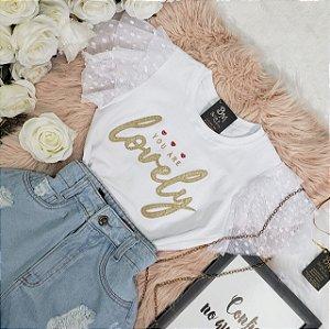 T-shirt Lovely Branca