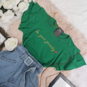T-shirt Priority Verde
